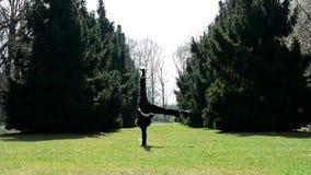 Άτομο στο χορό σπασιμάτων χορού κοστουμιών απόθεμα βίντεο