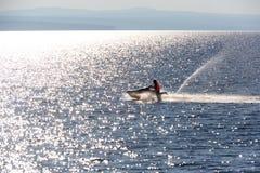 Άτομο στο aquabike Στοκ φωτογραφίες με δικαίωμα ελεύθερης χρήσης