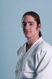 άτομο του Kim κοστουμιών aikido Στοκ Φωτογραφίες