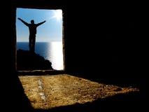 άτομο τρυπών αφαίρεσης Στοκ εικόνες με δικαίωμα ελεύθερης χρήσης