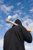 άτομο τσεκουριών Στοκ φωτογραφίες με δικαίωμα ελεύθερης χρήσης