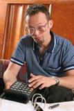 άτομο υπολογιστών Στοκ Φωτογραφίες