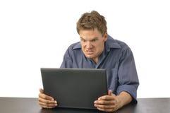 άτομο υπολογιστών Στοκ εικόνες με δικαίωμα ελεύθερης χρήσης