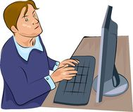 άτομο υπολογιστών ελεύθερη απεικόνιση δικαιώματος
