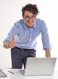 Άτομο υπολογιστών Στοκ Εικόνες