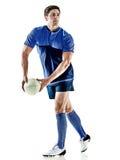 Άτομο φορέων ράγκμπι που απομονώνεται Στοκ Φωτογραφίες