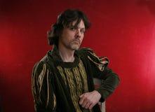 άτομο φορεμάτων μεσαιωνικό Στοκ εικόνα με δικαίωμα ελεύθερης χρήσης