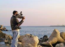 άτομο φωτογραφικών μηχανών Στοκ Εικόνα