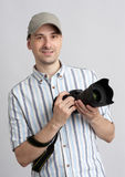 άτομο φωτογραφικών μηχανών Στοκ Εικόνες