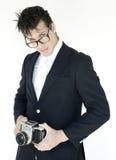 άτομο φωτογραφικών μηχανών Στοκ εικόνες με δικαίωμα ελεύθερης χρήσης