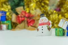 Άτομο χιονιού στα Χριστούγεννα Στοκ Εικόνα