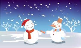 Άτομο χιονιού Στοκ φωτογραφία με δικαίωμα ελεύθερης χρήσης
