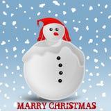Άτομο χιονιού Στοκ εικόνες με δικαίωμα ελεύθερης χρήσης