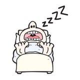 άτομο ύπνου κινούμενων σχεδίων Στοκ Φωτογραφίες