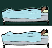 Άτομο ύπνου στο σπορείο διανυσματική απεικόνιση