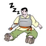 Άτομο ύπνου Στοκ εικόνα με δικαίωμα ελεύθερης χρήσης
