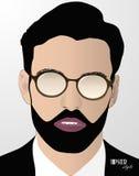 Άτομο Hipster Διανυσματική απεικόνιση
