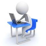 άτομο lap-top διανυσματική απεικόνιση