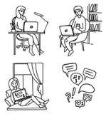 άτομο lap-top Απεικόνιση αποθεμάτων
