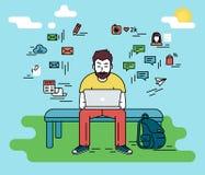 άτομο lap-top ελεύθερη απεικόνιση δικαιώματος