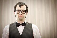 Άτομο Nerd με το πορτρέτο γυαλιών Στοκ Φωτογραφίες