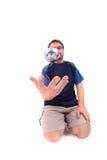 άτομο petanque που παίζει Στοκ φωτογραφία με δικαίωμα ελεύθερης χρήσης