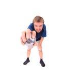 άτομο petanque που παίζει Στοκ Φωτογραφίες