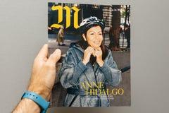 Άτομο pov στο δήμαρχο της Anne Hidalgo του Παρισιού Στοκ Εικόνες