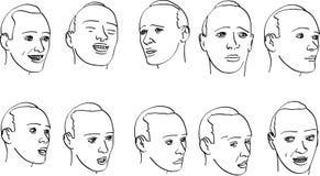 άτομο s εκφράσεων διανυσματική απεικόνιση