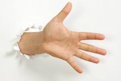 άτομο s χεριών Στοκ φωτογραφία με δικαίωμα ελεύθερης χρήσης