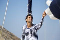 Άτομο sailboat Στοκ εικόνα με δικαίωμα ελεύθερης χρήσης