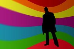 άτομο silhouete απεικόνιση αποθεμάτων