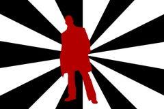 άτομο silhouete Στοκ Εικόνα