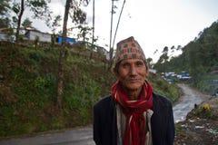 Άτομο Sindhupalchowk, Νεπάλ στοκ φωτογραφίες
