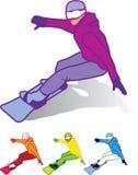 Άτομο Snowboarder ελεύθερη απεικόνιση δικαιώματος