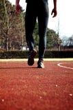 άτομο sportstrack που περπατά Στοκ Εικόνες