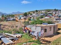 Άτυπη τακτοποίηση στη Νότια Αφρική με τα ηλιακά πλαίσια στοκ φωτογραφίες με δικαίωμα ελεύθερης χρήσης