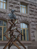 Άτυπο μνημείο στον ποιητή Shevchenko κοντά στην αίθουσα πόλεων στο Κ Στοκ Εικόνες