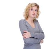 άτυχη γυναίκα Στοκ φωτογραφία με δικαίωμα ελεύθερης χρήσης
