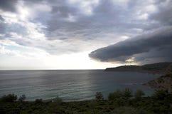Άφιξη της θύελλας στοκ εικόνα