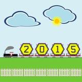 Άφιξη του νέου έτους 2015 Στοκ φωτογραφίες με δικαίωμα ελεύθερης χρήσης