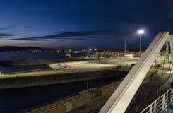 Άφιξη του πορθμείου στο λιμένα Στοκ φωτογραφία με δικαίωμα ελεύθερης χρήσης
