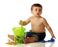άχρηστος παραλιών μωρών Στοκ φωτογραφίες με δικαίωμα ελεύθερης χρήσης