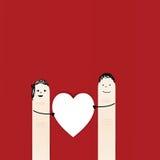 δάχτυλα ευτυχή Στοκ φωτογραφία με δικαίωμα ελεύθερης χρήσης
