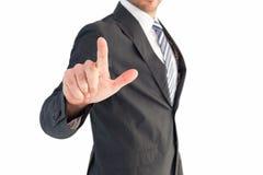 δάχτυλο επιχειρηματιών η &u Στοκ φωτογραφίες με δικαίωμα ελεύθερης χρήσης