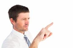 δάχτυλο επιχειρηματιών η &u Στοκ εικόνες με δικαίωμα ελεύθερης χρήσης
