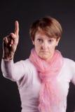 δάχτυλο που η γυναίκα τη&si Στοκ φωτογραφία με δικαίωμα ελεύθερης χρήσης