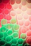 άχυρα χρώματος κοκτέιλ Στοκ φωτογραφίες με δικαίωμα ελεύθερης χρήσης