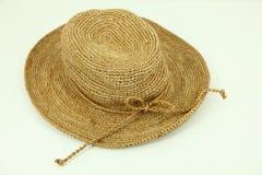 άχυρο καπέλων χείλων Στοκ εικόνα με δικαίωμα ελεύθερης χρήσης