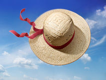 άχυρο καπέλων Στοκ φωτογραφίες με δικαίωμα ελεύθερης χρήσης